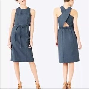 Modern dress with exposed back and tie